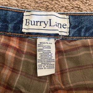 Burry Lane vintage 90's flanne lined jeans